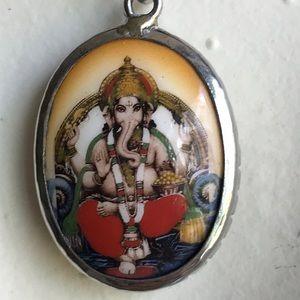 Silver & Enamel GENESH India Necklace